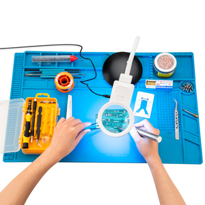 Image 5 - Large Size 55*35cm Soldering Mat With Magnetic Repair Silicone Work Mat For Electronics Computer Phone DIY Welding Tool