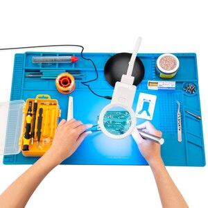 Image 5 - Tapis de soudure de grande taille 55*35cm avec le tapis de travail magnétique de Silicone de réparation pour loutil de soudure de bricolage de téléphone dordinateur électronique