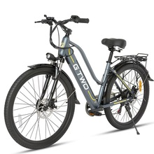 Electric Ebike Scooter 350W Two-Wheels Adults 24inch/26inch New 48V Bicycles White/grey