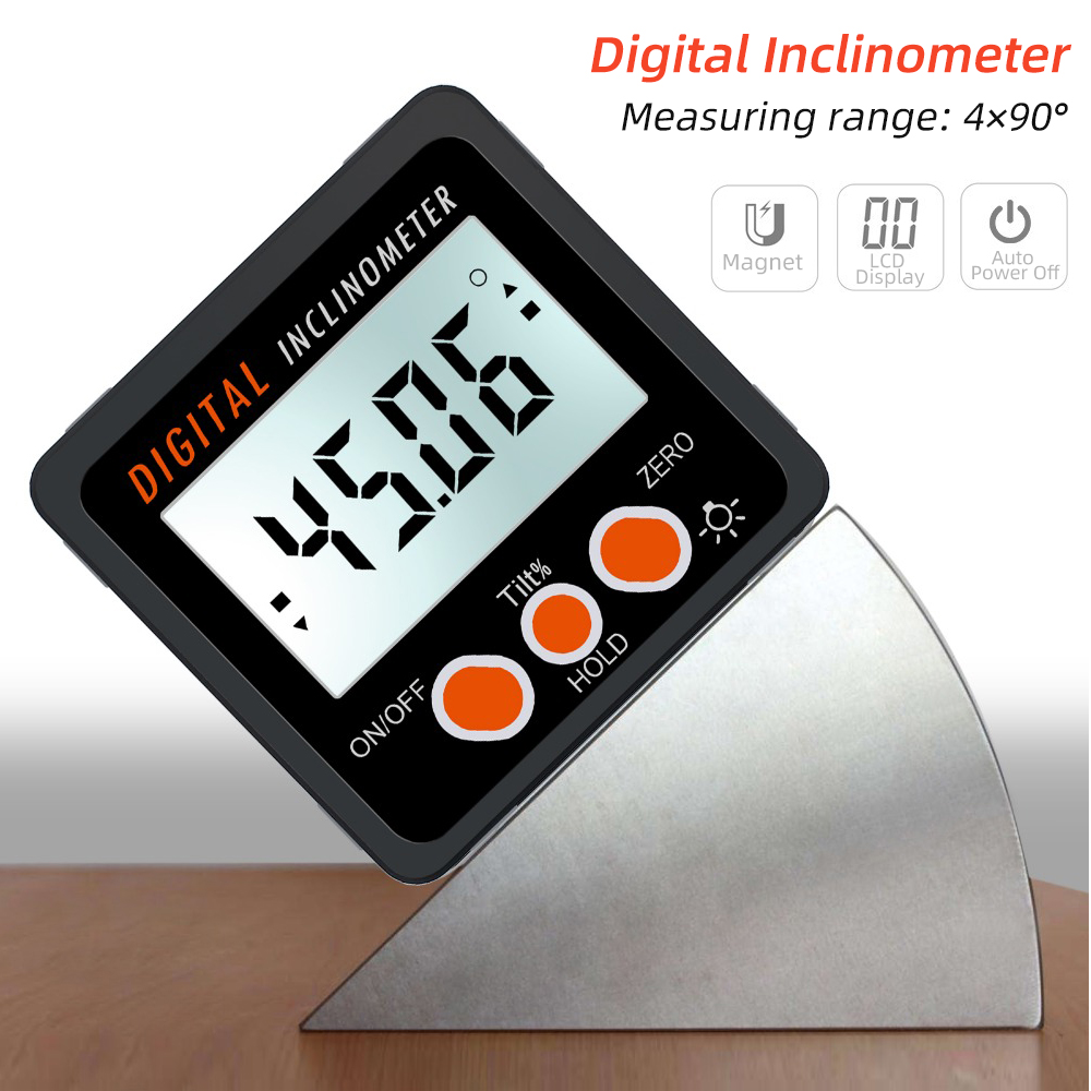 Precision Digital  Inclinometer Water Proof Level Box Angle Finder Bevel Box With Magnet Base Digital Angle Gauge Hot