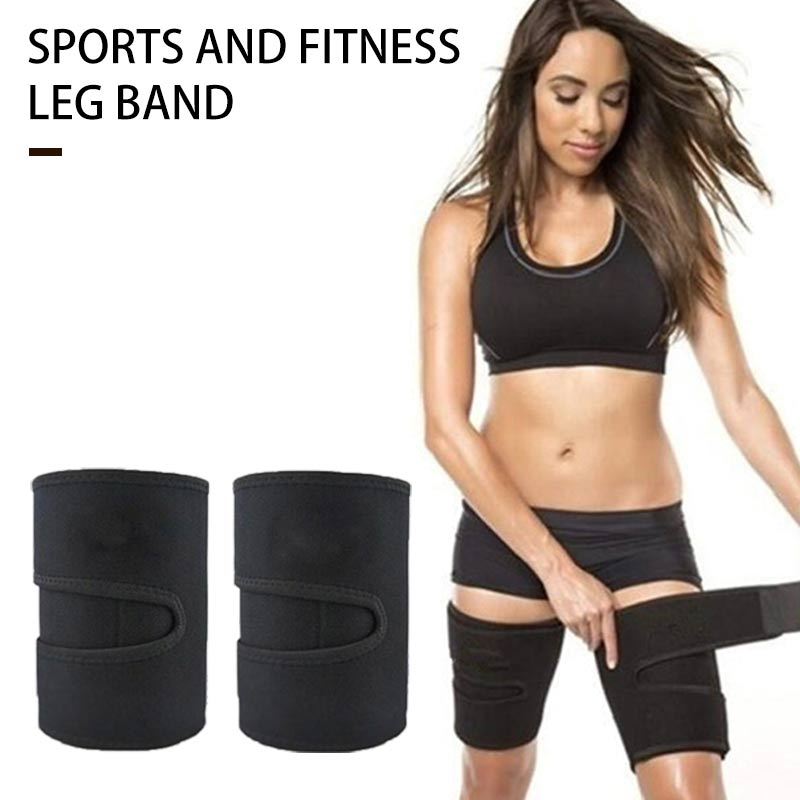 1Pair Leg Shaper Belt Thigh Trimmers Calories Off Warmer Slender Slimming Exercise Pilates Workout Sport Equipment