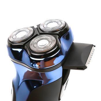 USB Charging 3D Electric Shaver 3 Head Rotary Floating Washable Razor Men Beard Shaving Trimmer with LED Light Indicator so white wireless 3d smart control usb charging electric razor shaver ipx7 usb charging shaving
