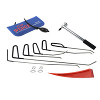 PDR Rods Hook Tools with pum wedge lockstitch Paintless Dent Repair Car Dent Removal Tool Kit Hail Hammer