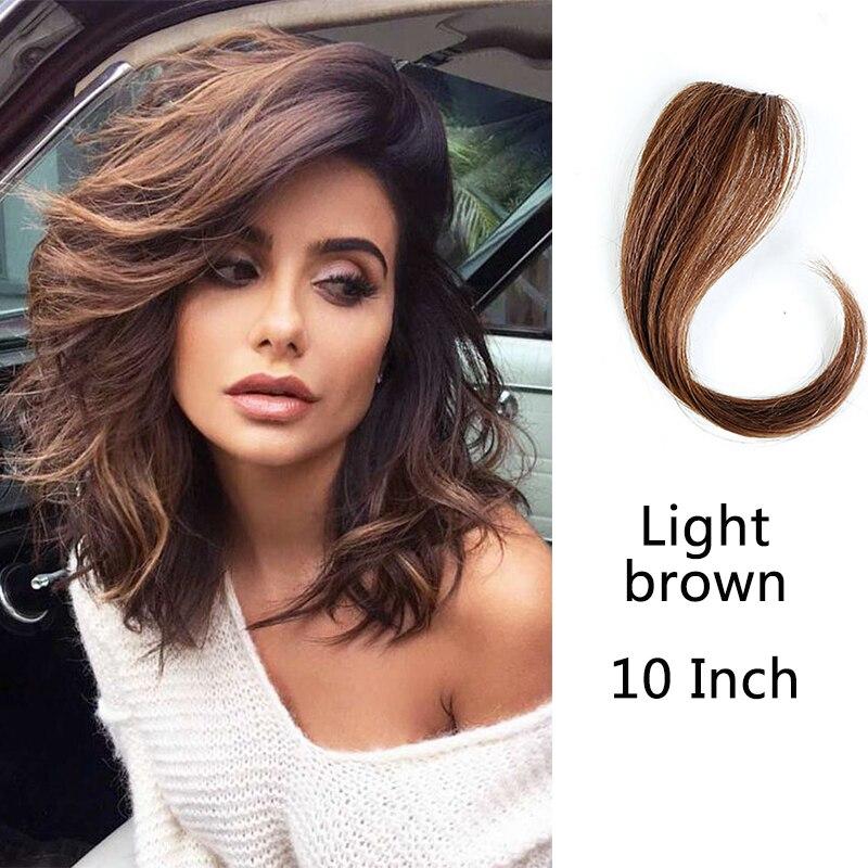 HOUYAN 25-35 см натуральные человеческие волосы на заколках на лицевой стороне челки женщина с поддельной бахромой волосы - Цвет: ZF1023-2I30