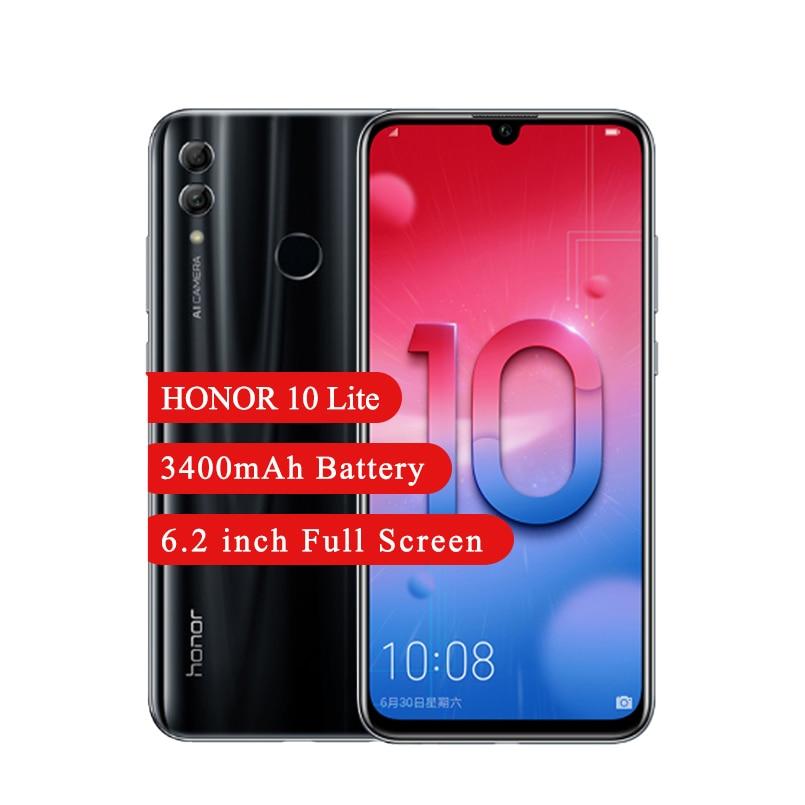 Honor 10 Lite Android 9.0 Smartphone 6.21 Inch Kirin 710 Octa Core 13MP Achteruitrijcamera 4Gb Ram 64Gb rom 3400Mah Smartphone