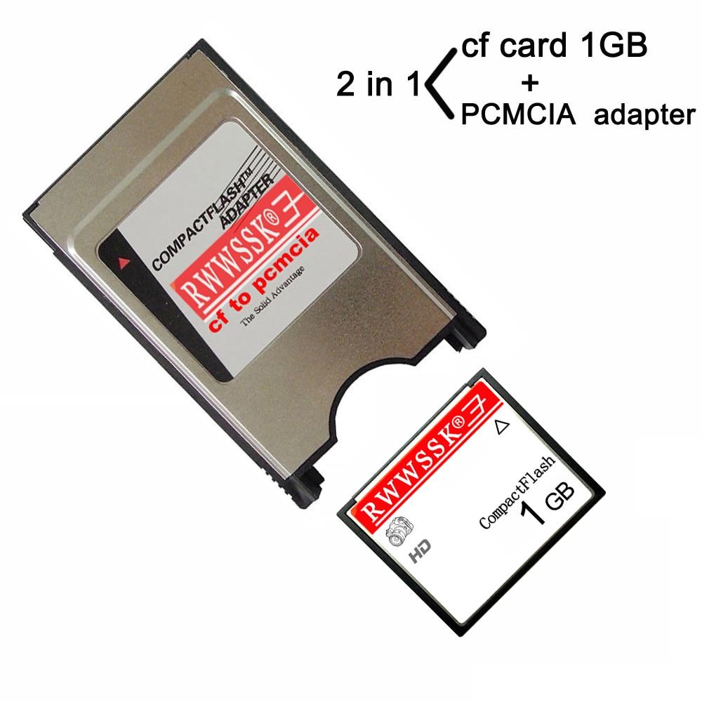 Карта памяти RWWSSK type I CF + PCMCIA, 128 Мб, 256 Мб, 1 ГБ, 2 ГБ, 4 ГБ, 8 ГБ, 16 ГБ, 32 ГБ, 64 ГБ, карта памяти для Mercedes-Benz