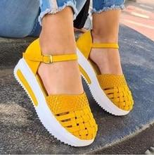 Brand Fashion Women Hollow Out Sandals Summer Flat Heel Sandals Female Casual Sewing Increase Platform Sandals Ladies Sandalias