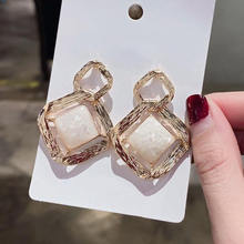 Fashion Women Earrings 2020 Vintage Geometric Stud Earrings For Women Accessories Jewelry Elegant Pendants Earrings Girl Gift elegant crystal rhinestones stud earrings for women accessories jewelry fashion women earrings statement girl gift