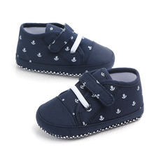 New Baby Boys Shoes Soft Sole Infant Toddler First Walkers Baby Boys Crib Shoes Fashion Sneakers Baby Boy Casual Shoes cheap ROMIRUS Canvas Patch Spring Autumn Hook Loop geometric COTTON Fits true to size take your normal size 11cm 12cm 13cm