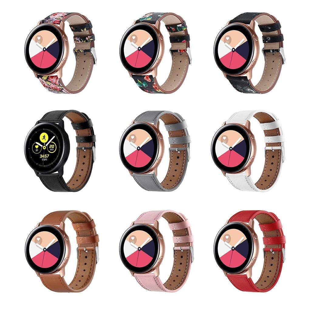 Accesorio eiEuuk, correa de reloj de repuesto de cuero auténtico, correa de muñeca para Samsung Galaxy Active, reloj inteligente de 40mm Pulsera para mi Band 4 3 correa de muñeca de Metal sin tornillos de acero inoxidable para Xiaomi mi Band 4 3 pulseras de correa pulseira mi banda 4 3
