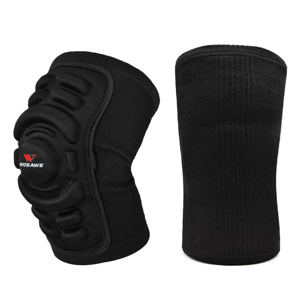 WOSAWE 1pc Knee Pads Motorcycle Knee Protector Sports Safety EVA Honeycomb Warm Knee pad Breathable Ski Protective Gear