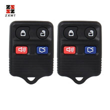 цена на ZXMT 2pcs 4 Button Remote Car Key Transit Keyless Entry Fob 315MHz/433mhz For Ford Mazda Remote Control Clicker Transmitter