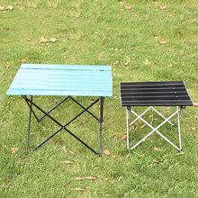 купить Outdoor Table Portable Foldable Camping Furniture Computer Tables Picnic Size S L  Al Light Color Anti Slip Folding Desk дешево