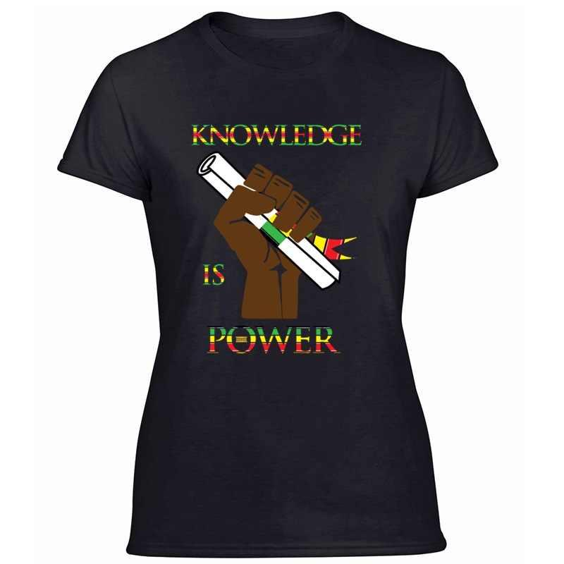 Casual Conoscenza di Potenza Re Nero queen Hbcu Africa Uomini Tshirt Nero Gents Divertente T-Shirt Pop Top Tee