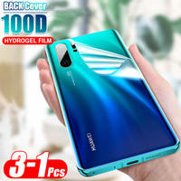 Back Cover 100D Soft Hydrogel Film For Huawei P20 Lite P30 Pro Mate 20 30 Pro Screen Protector HD Protective Cover Film
