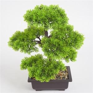 Image 3 - fleurs artificielles Simulation pin aiguilles cyprès plantes bonsaï fausse fleur plantes artificielles pots intérieur maison salon décoration créative