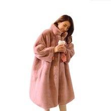 Зимняя верхняя одежда длинное шерстяное Смешанное пальто женское