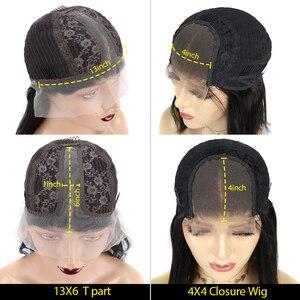 """Image 5 - Beeos высокое соотношение 4*4 Кружева Закрытие человеческих волос парик объемная волна цвет волос 180% бразильские волосы Remy 8 """" 26"""""""