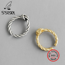 S'STEEL Knot Ring 925 Sterling Silver Rings For Women Anillos Plata 925 Para Mujer Bijoux Femme 2019 Bague Argent Fine Jewelry