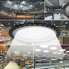 220V светодиодный подвесной светильник типа High Bay светильник 50/100W Низкий залив НЛО склад промышленный светильник s для супермаркета управления для стоянки лампы