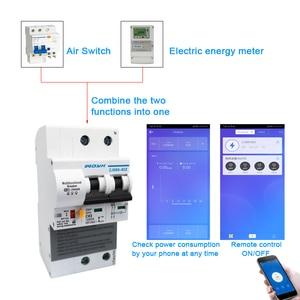 Image 2 - Ewelink Wifi 2P 63A Smart Stroomonderbreker Schakelaar Met Energie Monitoring Stroomverbruik Monitor Meting Werken Met Alexa