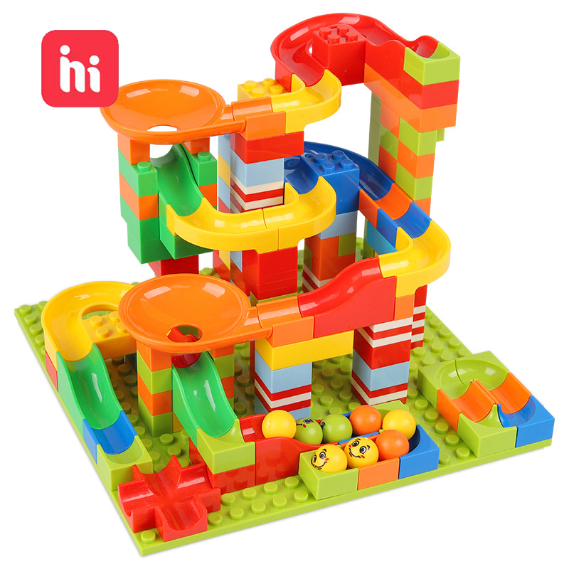 Hipac 168 392 PCS Building Blocks Marble Racing Run Block Ball Plastic Funnel Slide DIY Assembly Bulid Bricks Toys For Children|Blocks| - AliExpress