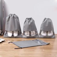 1 Pcs Shoe Bag Multi Purpose Travel Laundry Storage Pouch Zipper Organizer Portable Tote Drawstring Shoes Organizador