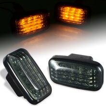 Runmade 1 para samochodów lampa obrysowa lewa LED dym włączony kierunkowskaz dla Toyota Land Cruiser 70 80 100 serii