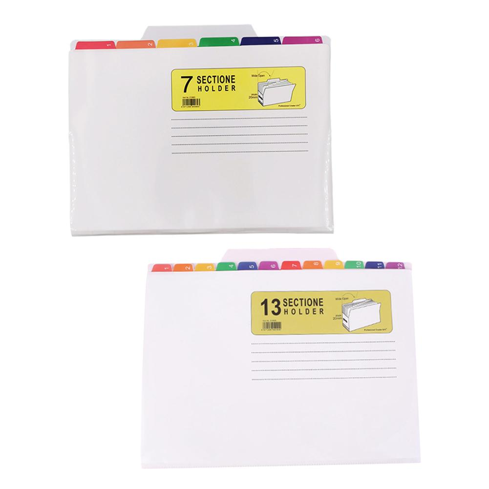 High Quality Waterproof New Folder 7 Pockets Innovative And Practical Color File Manager For Exam Office, Teaching Students Only