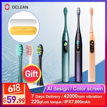 Oclean X Pro Sonic Electric Toothbrush Adult Waterproof Ultrasonic automatic Fast Charging Tooth Brush With Travel Box
