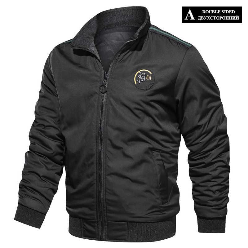 Lbl Casual Bomber Jacket Mannen Slim Fit Herfst Winter Double Side Heren Militaire Jassen Uitloper Jas Man Sportkleding Trainingspak 2020
