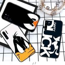 Drôle daffy canard Silicone housse de téléphone pour Huawei P9 lite 2016 2017 P 10 P20 PRO P30 P40 lite P smart 2019 funda