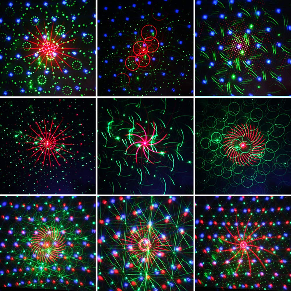 Image 2 - newest 2019 DJ laser RGB stage light projector LED effect lamp disco Christmas holiday bar lighting party indoor lamp remote-in Stage Lighting Effect from Lights & Lighting