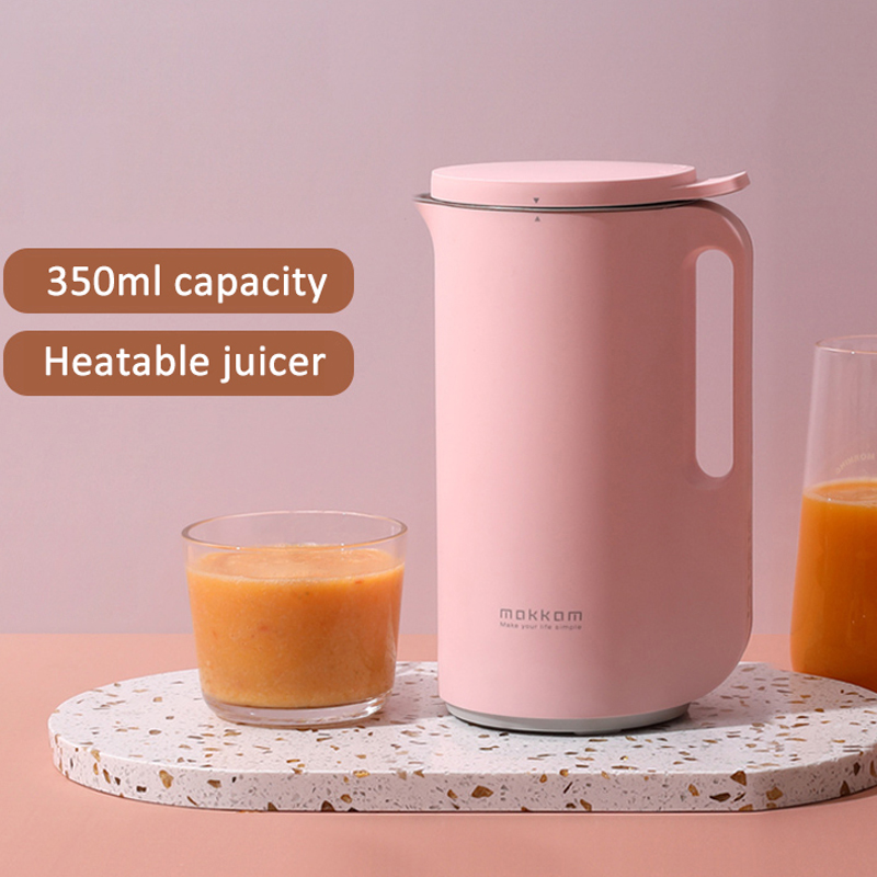 220V Soymilk Machine Multifunction Automatic Mini Electric Heating Soya-Bean Milk Juicer Stir Rice Paste Maker Filter-free 350ml