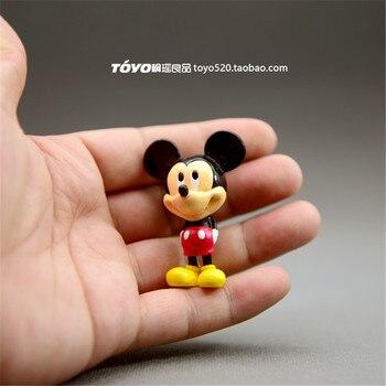 12 stück 5cm klassische mickey mouse pvc figuren spielzeug Cartoon figuren modell ornamente mickey sammlung spielzeug