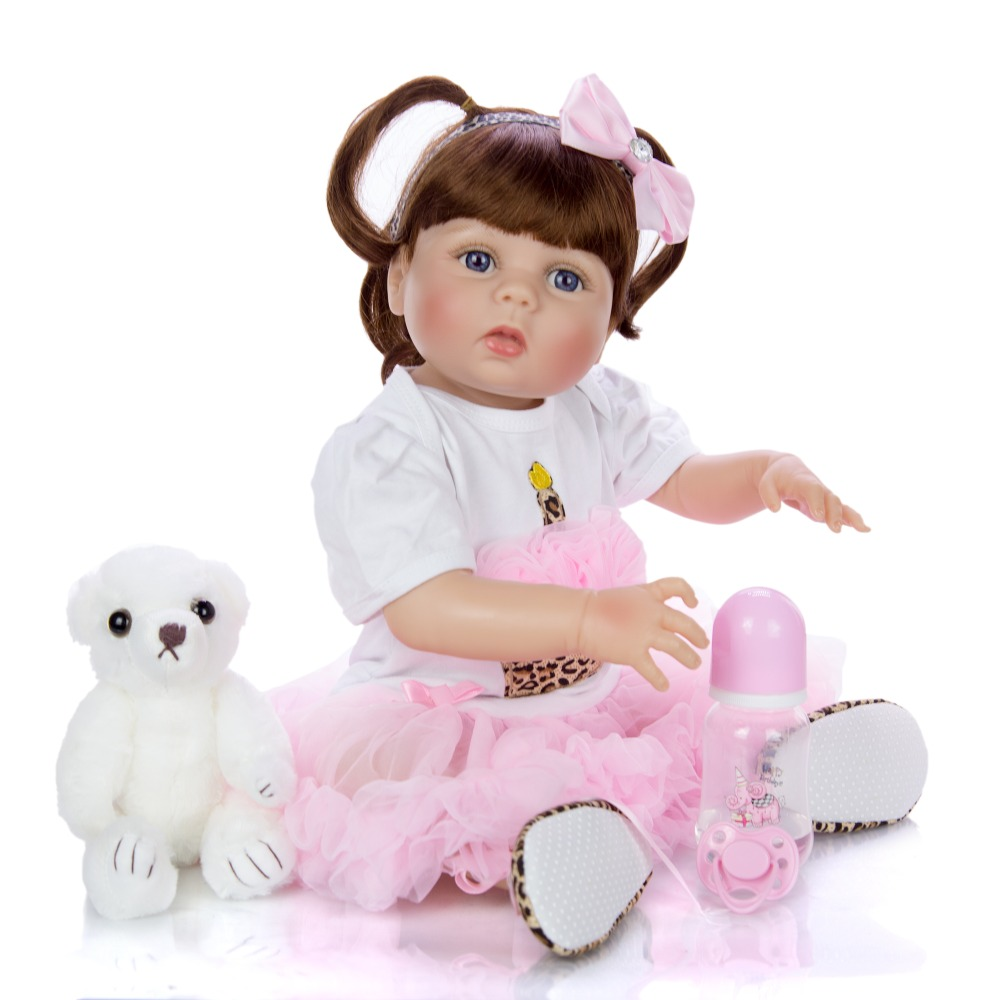 Bebes reborn victoria girl dolls 22 full body silicone baby dolls for children gift can enter water bonecas brinquedo menino