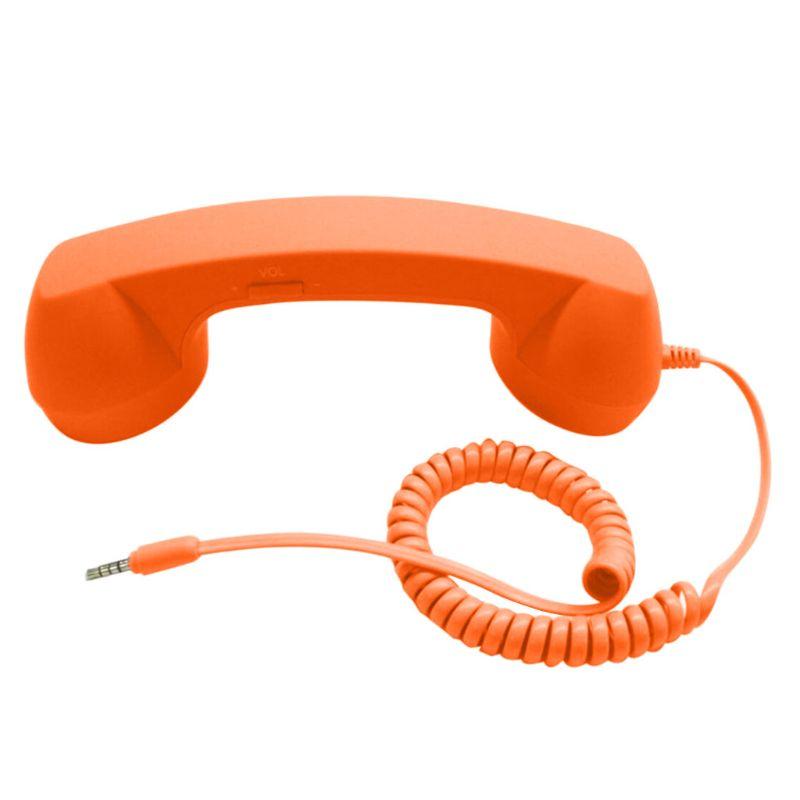 Универсальные Ретро радиационные телефонные наушники для телефонных звонков - Цвет: Orange
