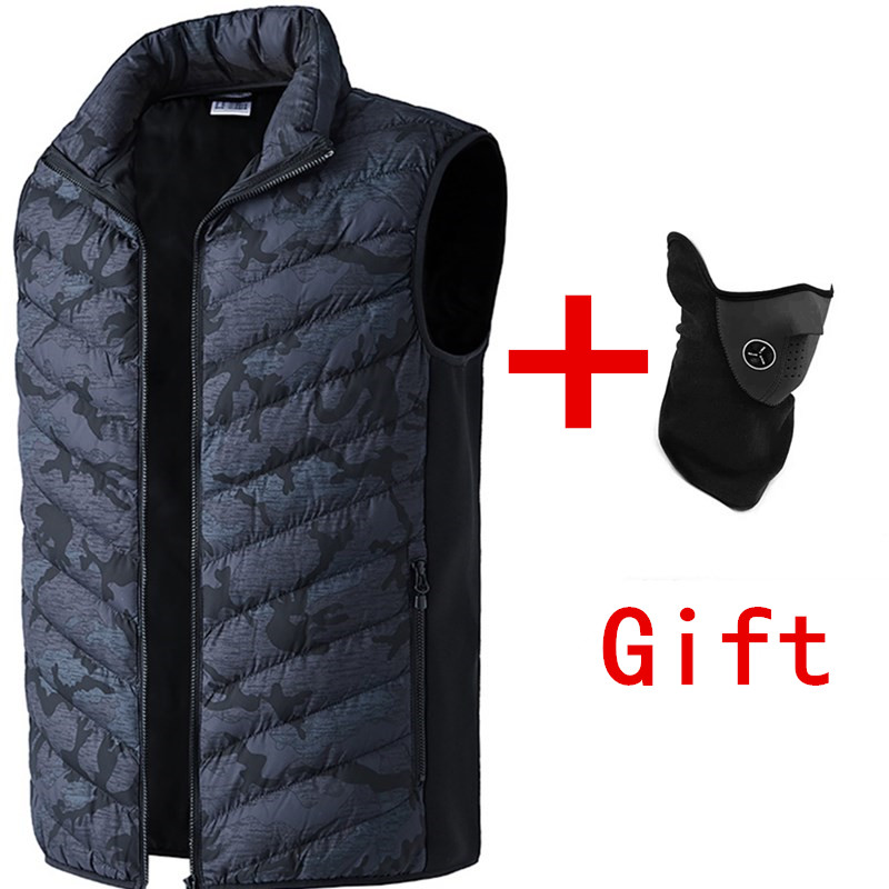 Infrared Electric Heated Vest Men Women Heating Waistcoat Thermal Warm Clothing Feather Vests Hot Sale Winter Hiking Jacket Hat