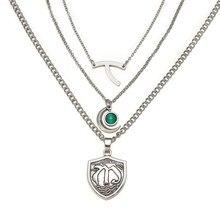 Надпись «Hope Mikaelson», многослойное ожерелье, Очаровательная подвеска, цепочка до ключиц, желаемое ожерелье, женское ювелирное изделие для кос...