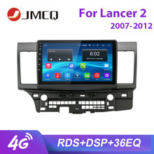 "JMCQ 10"" RDS For Mitsubishi Lancer 2 2007-2012 Car Radio 4G Wifi Android player GPS Multimedia Video Players Stereo with Frame(China)"