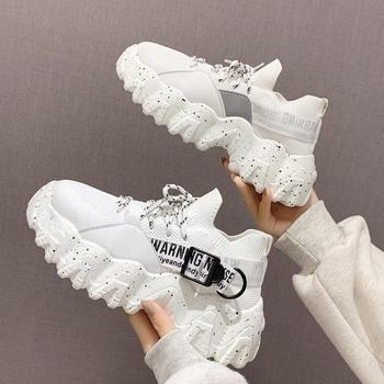 Mesh Designer Shoes Woman Thick Bottom Platform Sneakers Women 2020 White Sneakers Woman Casual Shoes For Women Casual Sneaker