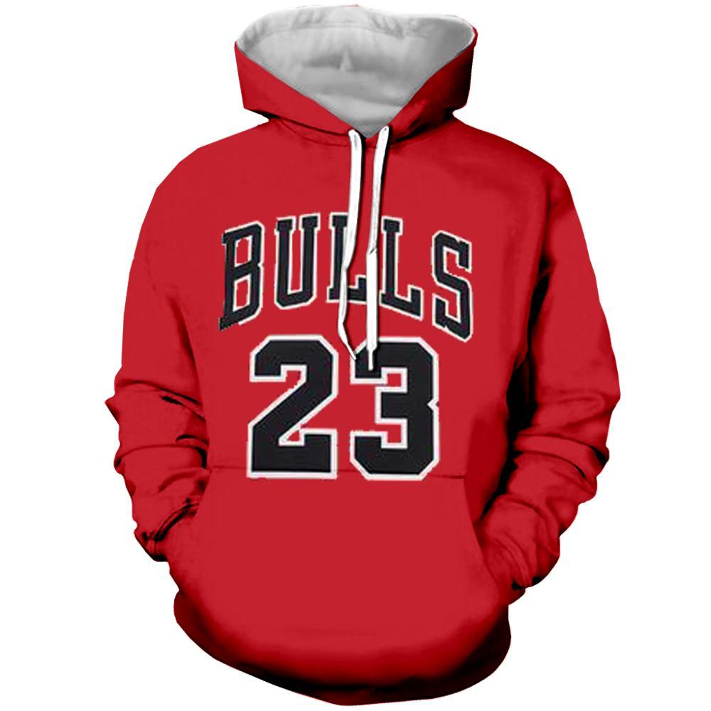 Майкл Джордан 23 балахон 2019 новый мяч спортивная толстовка полный 3D Печатный красный балахон уличный хип-хоп Повседневный пуловер