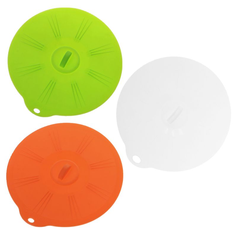 Silicone Suction Lid-bowl Pan Cooking Pot Lid Stretch Lids Silicone Pan Spill Stopper Cover circular Kitchen Gadgets