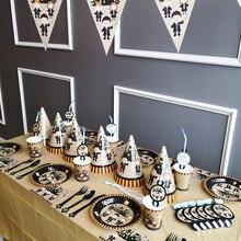 Одноразовая посуда Волшебные Детские тематические тарелки чашки соломинки скатерть для волшебного дня рождения украшение любимый детский ASD166