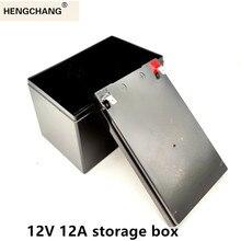 交換12v 12a鉛蓄電池用噴霧器ups太陽光発電リチウムイオン特別なプラスチックボックスhengchangドロップシッピング
