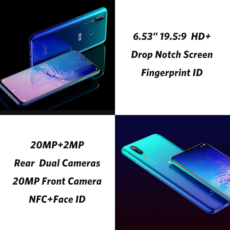 Мобильный телефон Elephone A6 Mini 5,71 ''с Каплевидным экраном Android 9,0 MT6761 четырехъядерный HD + 4 ГБ 32 ГБ/64 Гб 16 МП 4G LTE смартфон - 4