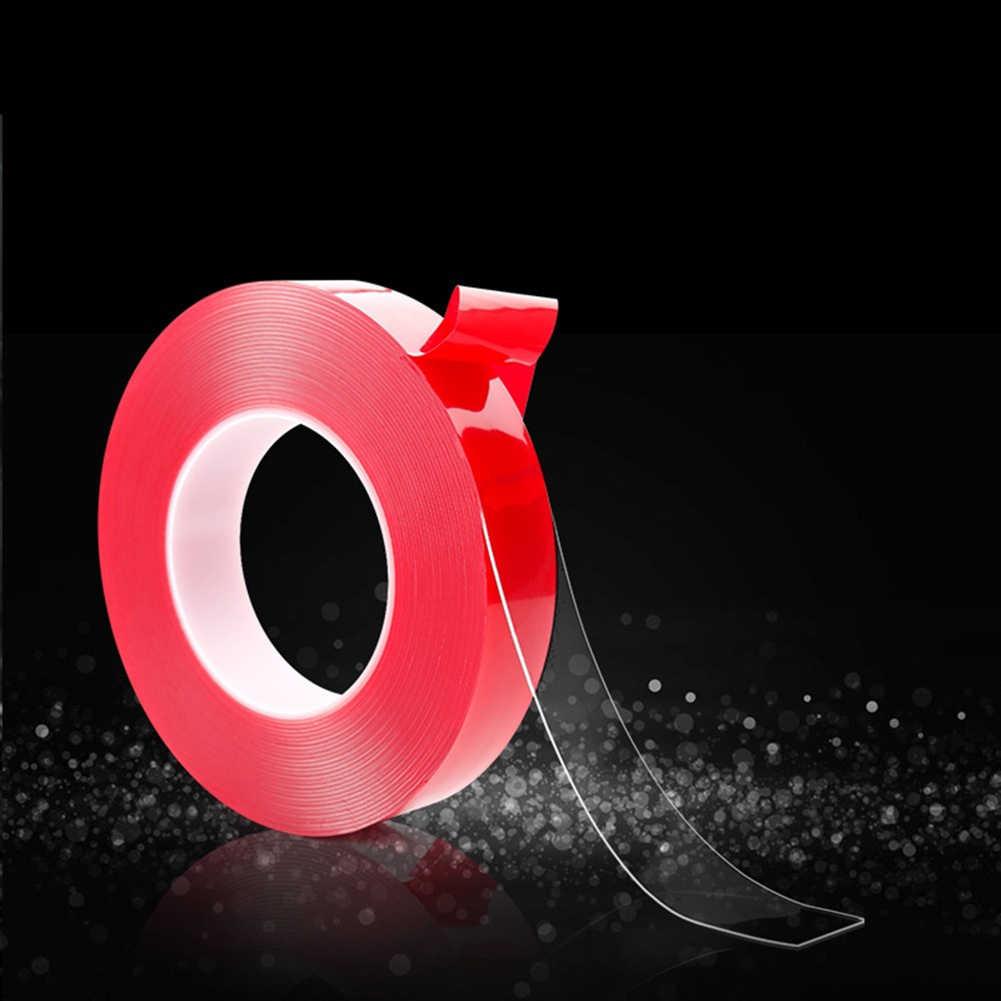 빨간 투명한 실리콘 양면 테이프 스티커 자동차 스티커에 대 한 높은 강도 흔적 없음 접착 스티커 자동 생활 용품
