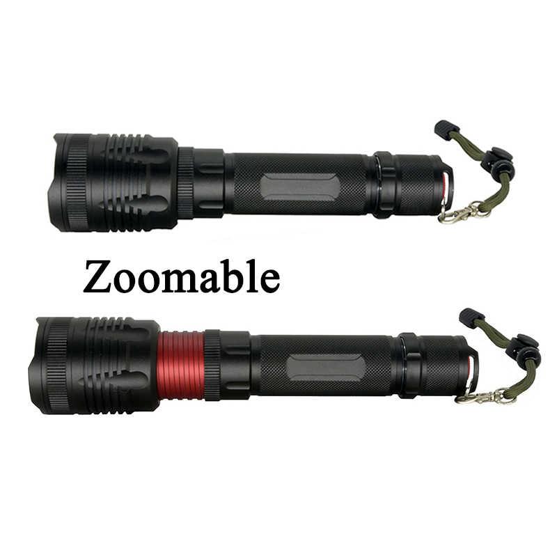 Litwod Z90P78 Original CREE XHP70.2 32w chip lámpara potente zoom lente táctico LED linterna antorcha 26650 y batería 18650