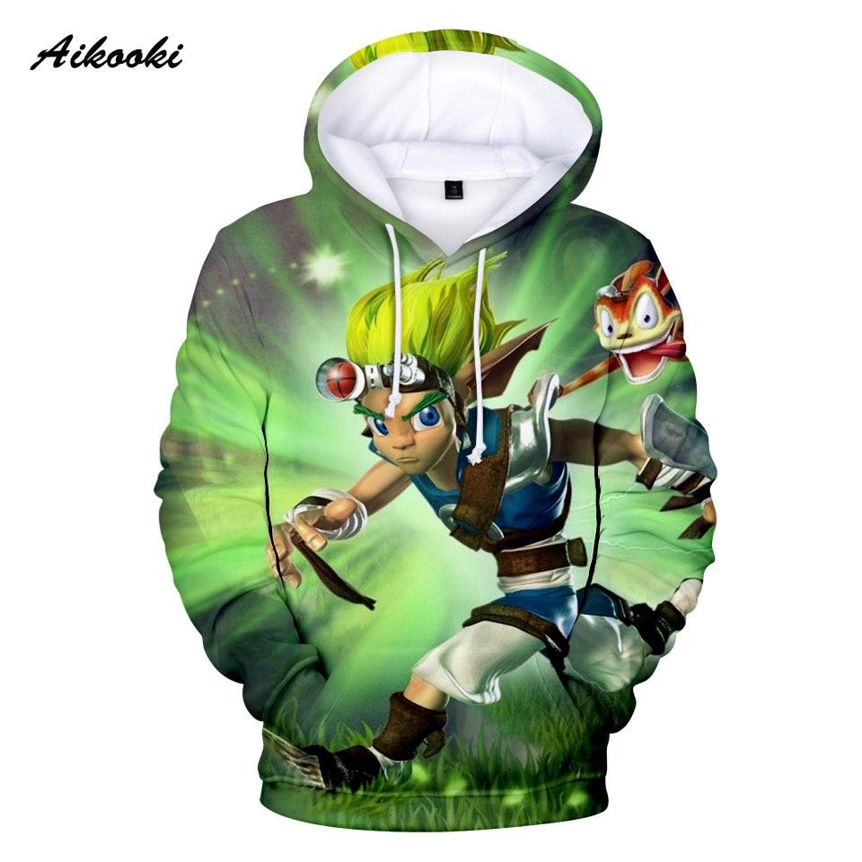 2020 Classic Game Jak and Daxter Hoodies Anime Hoodie Sweatshirt Cartoon Pullovers Jak Daxter Long Sleeve 3D Print High Quality