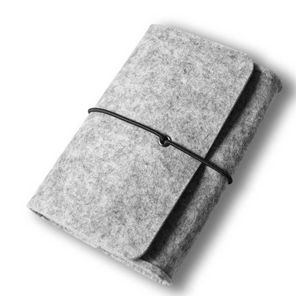 スリーブカバー軽量ユニセックス超スリム化粧ポーチ人工ウールフェルト旅行収納ラップトップバッグケースアクセサリーミニ